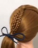 适合10岁女生的发型最好简单的自己就能梳
