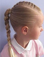 儿童长发蝎子辫绑扎方法 流行的蝎子辫图片