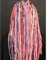 脏辫有粉色的吗 炫酷型粉色脏辫图片