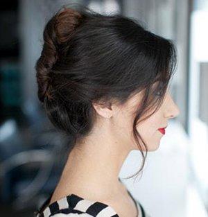 妇女头发少怎么盘发显得多 50岁头发少女士盘发方法