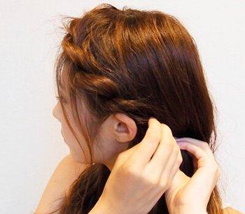 发量多韩式发型编法图解 简单韩式编发图片