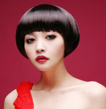 沙宣蘑菇头样品 女生蘑菇头穿衣搭配
