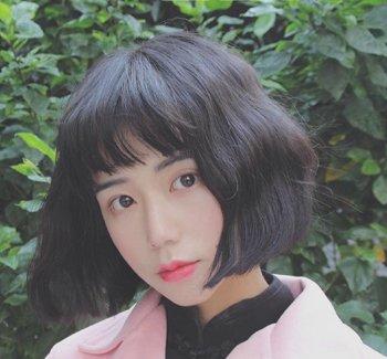 额头宽女生适合的二次元刘海 2018二次元刘海蛋卷头发型