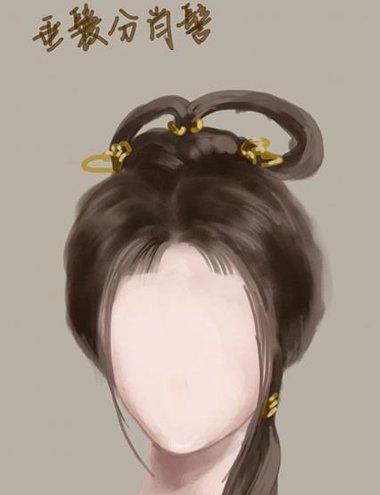 垂鬟分肖髻怎么搭配发饰 适合垂鬟分肖髻的饰品