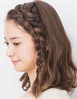 刘海蝎子辫编发教程 刘海边上的蝎子辫编发发型