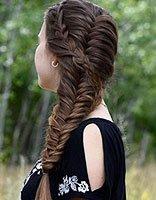 如何编蓬松的蝎子辫 女生时尚蝎子辫发型图片