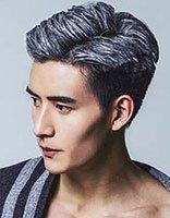 2018奶奶灰染发依旧流行 男生新版奶奶灰染发发型范例图片