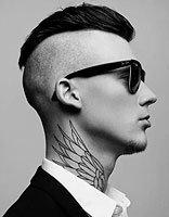 超霸气类似男生莫西干发型 发顶留一撮发型图片及名称