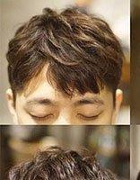 定位烫只能露额头吗 有刘海男生定位烫发型这样做