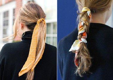 这些年被我们玩坏了的丝巾发型 你的丝巾功效被用尽了吗