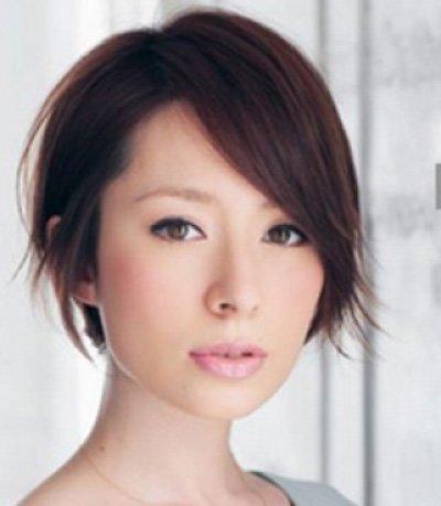 脸宽女生梳出的三七分2018世界杯体育投注网站 额头前刘海如何修剪显帅气