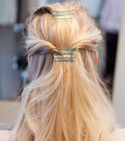 谁说扎头发一定要用皮筋的 小小发卡打造创意扎发发型