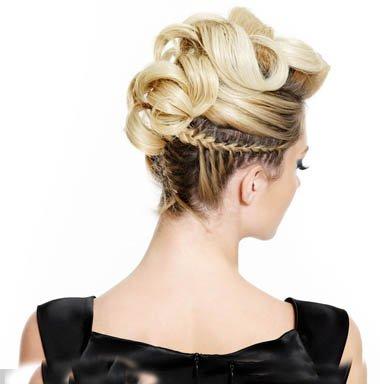 高颜值女生盘头发有刘海梳发 可盐可靓女生浅色头发打造