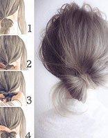 女生巧用头发绑蝴蝶结造型设计图片 为你示范韩式夏日清凉辫子发