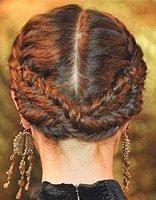 大牌秀盘发全都是不需要皮筋的 例数用发夹固定盘发的好处
