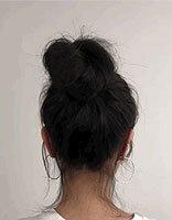 从高马尾到蓬松丸子头需要几步? 真头发做大丸子头一分钟够用了