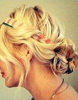 破布条别丢欧美风扎盘发就靠它变美 丝带扎卷发造型美且简单哦