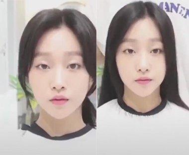 韩式偏分刘海才是大额头女生的救星 高额头大额头刘海剪法有对比才有实力