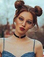 露香肩时装配发型给你健康型性感 中长发怎么扎才是撩人常态