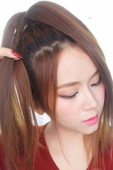 青春个性花苞头成为盛夏爆棚款 顺直头发也能扎出新花样发型