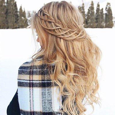 欧美女生秋冬编发学习 长发女生打造森系仙范儿必备扎发