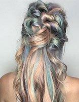 梦幻绚丽的极光色染发真·美 潮流达人专属个性染发设计