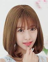 清凉时尚空气刘海内扣发型图片 女生齐肩发内扣搭配空气刘海造型