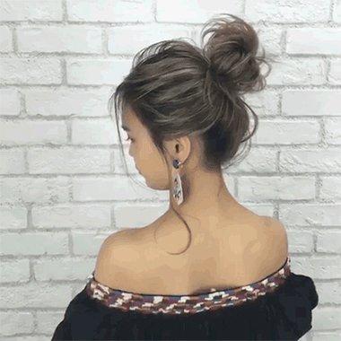 能贵至宴会也能艳冠夜店的丸子头发型 蓬松盘一个丸子头就能是双