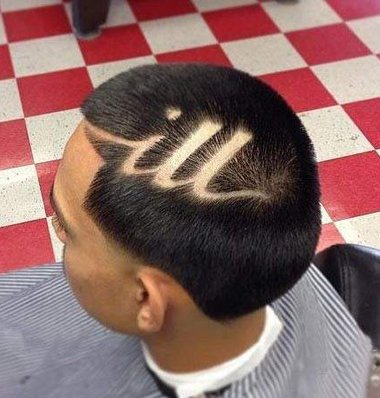 简单刻痕过时了要剃就做字母的 男生短头发刻字母图案大全