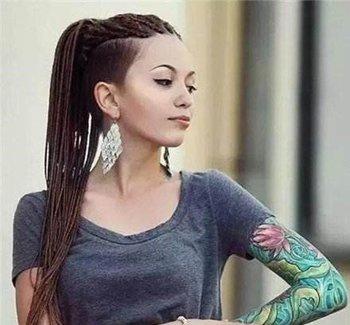 女生剪帅气铲青头需要多少钱 非主流女生梳铲青马尾比男生还酷