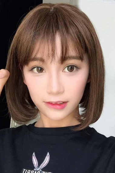 女生改良版波波头增加你的人气度 精剪韩式短头发搭配美空气刘海