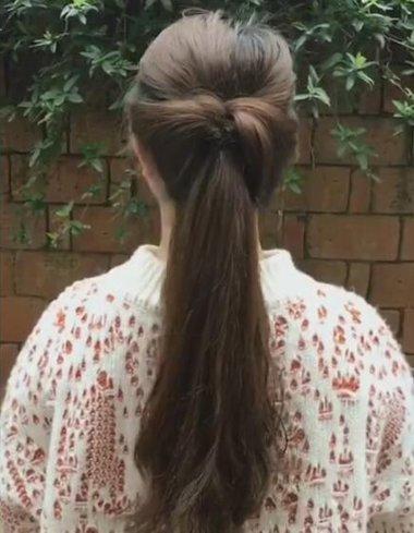 头发不够精致没关系扎个够精致的马尾就行 毛草长发秒变气质女神的马尾扎法