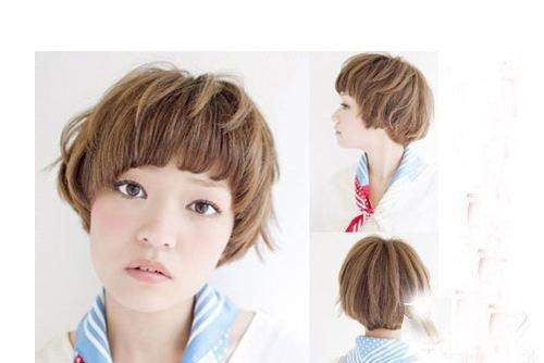 额头高女生打造最佳慵懒短卷发 街头到处可见的女生烫卷发上线