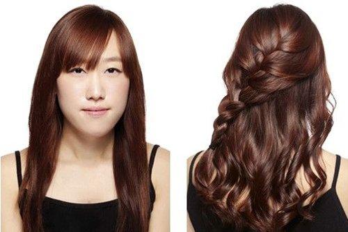 大脸女生头发厚长如何打理时尚 厚头发适合什么样卷发风格发型