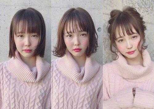 做女生变美需要发型三部曲 先烫后扎日系发型敲容易避免毁容