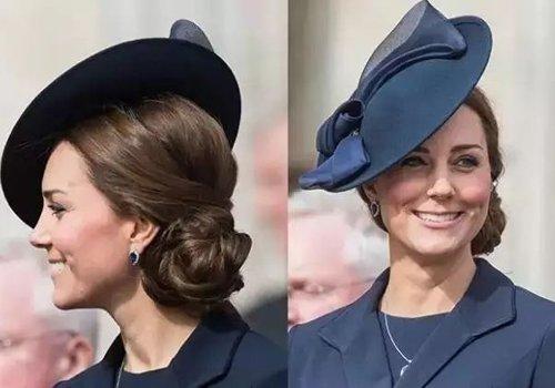 高贵无需钻石一顶斜着戴的帽子配发型就够了 欧式宴会戴帽子发型都爱做盘发