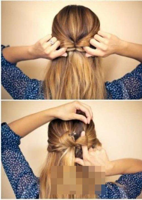 初秋女生编唯美浪漫蝴蝶结发型 教你编蝴蝶结头发的方法步骤
