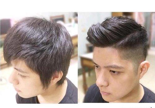 被同一款发型拯救的非整容男生们 渐变式剃鬓角+偏分后梳背头=百分百的修颜