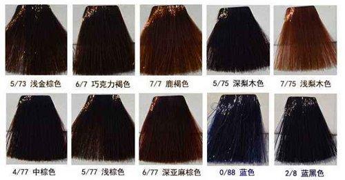 染发店拿出的染发色板不全看不出好坏 这里有染发颜色大全色板图供君挑选