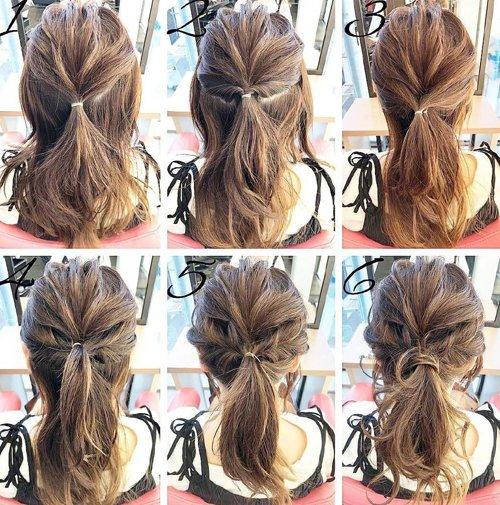 六宫格扎发真的只需要六步就能成型 6步做女生各种扎发的详细步骤