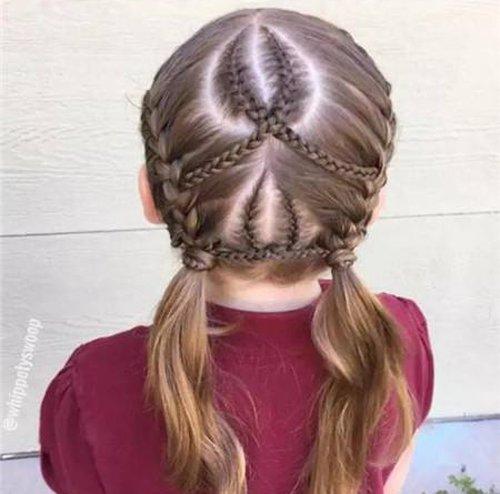 简单漂亮的儿童编发大全图片 养个长头发的小孩必备编发教程