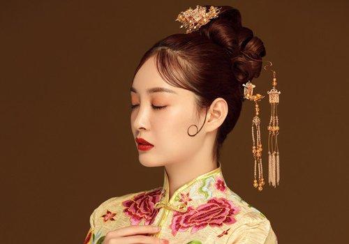 复古与时尚水乳交融打造最美新娘 2019中式新娘秀禾服发型不缺潮流元素