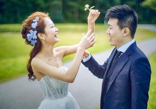 拍婚纱的时候一定要戴花环太浪漫美腻 影楼爆款新娘花环发型推荐