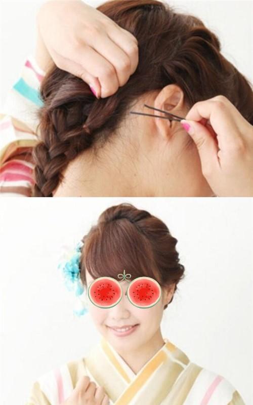 女生盘出的娇俏呆萌时尚头发图片 爱上盘发必不能缺少方法步骤