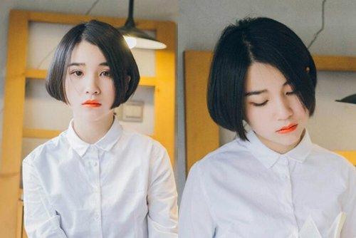 女生剪不对称波波头发型图片 干练利索时髦短头发帅到冲天造型