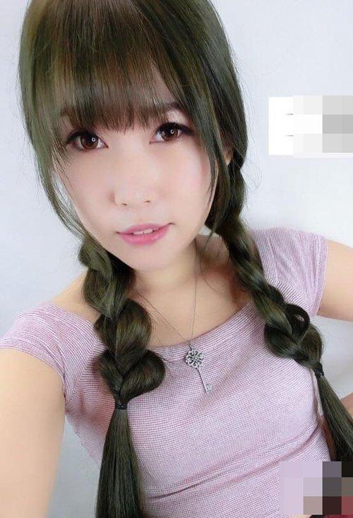 女生中长发扎双辫大炫学院风 韩式俏皮可爱扎发玩转潮流度