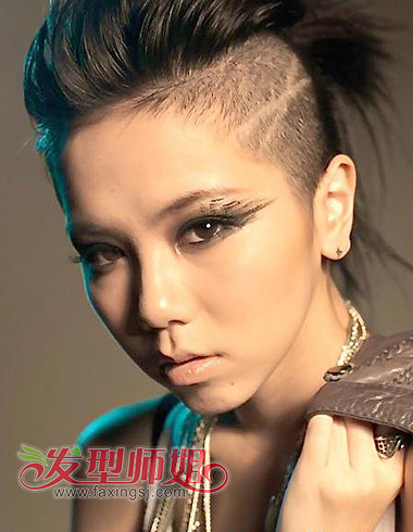 发型设计 短发 > 中性mm发型 帅酷不可挡(3)  朋克发型把女生柔美的发图片