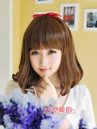 圆脸女生适合的发型(3)图片