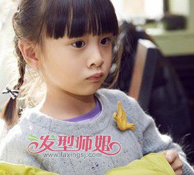 发型设计 儿童发型 >> 漂亮的小女孩编发 做最美丽的小天使  稀疏的