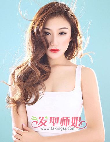 v长卷演绎多长卷发型美女(2)_图片气质发魅力_头发方脸油大全型风格图片